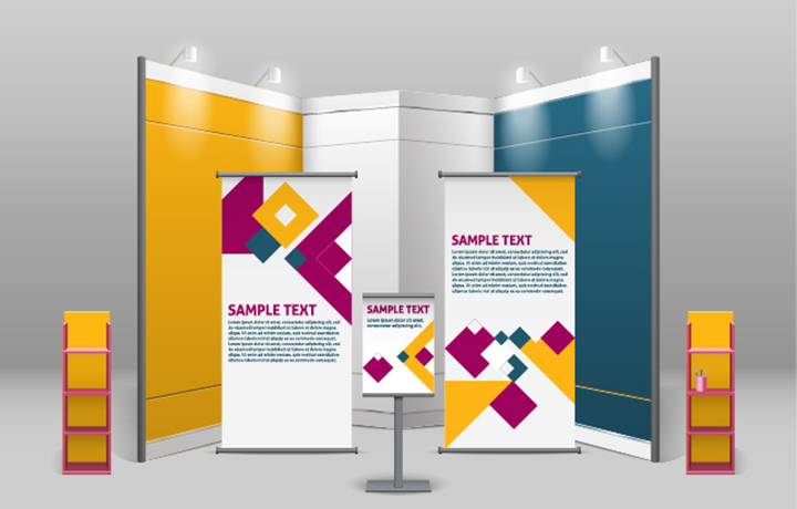 Trade show display banners for promotion