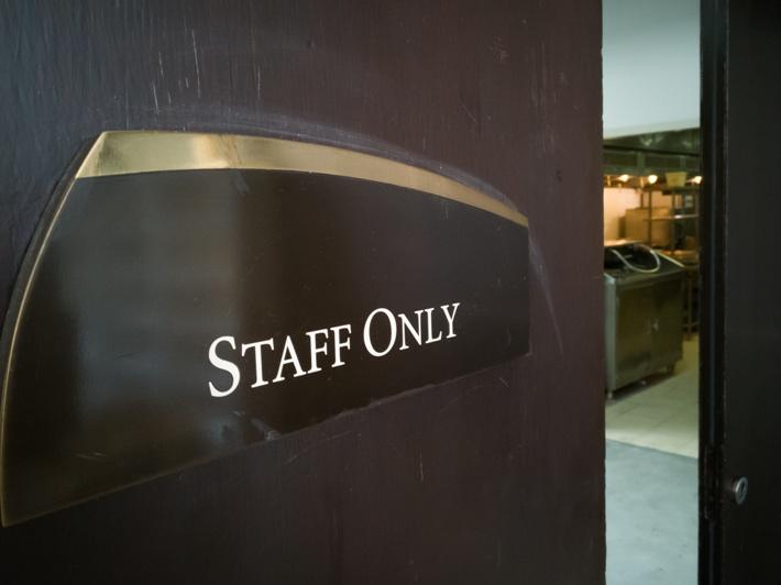 Best use of door signs in office
