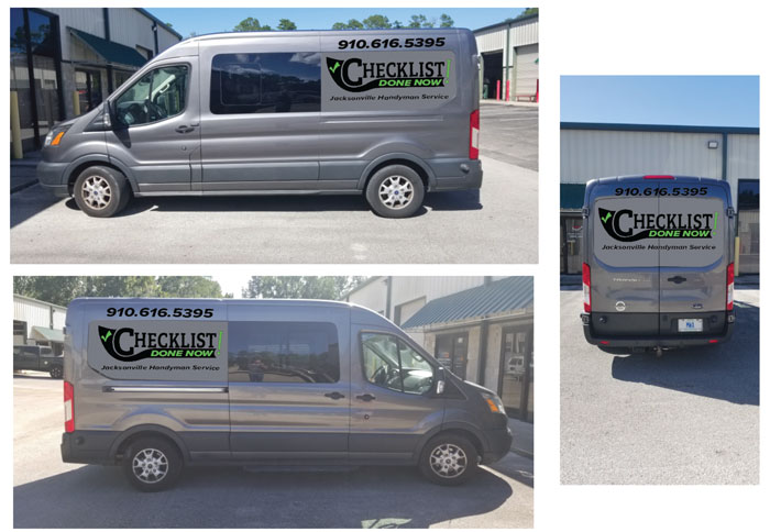 Vinyl vehicle wraps and decals for Checklist in Jacksonville, FL