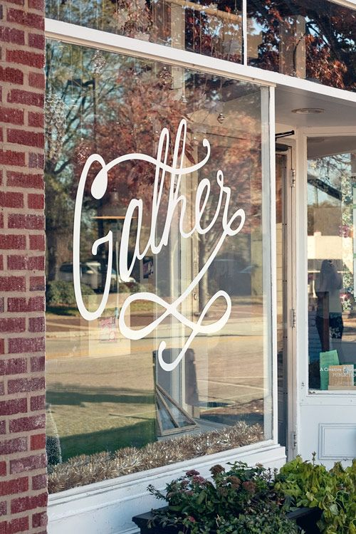 Gather storefront window decals in Jacksonville, FL