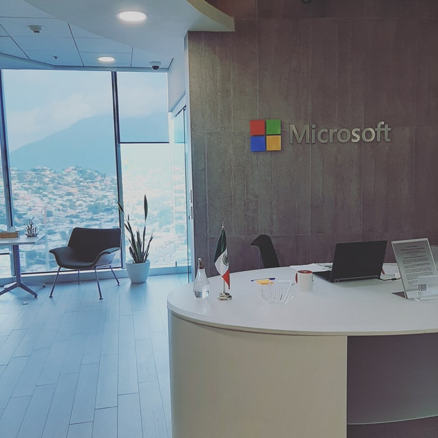 Custom lobby signage for Microsoft