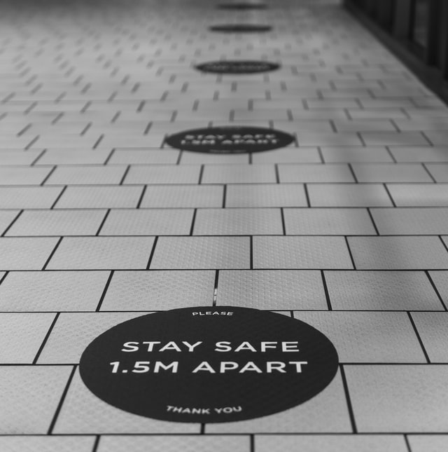 Vinyl floor decals for safety purpose