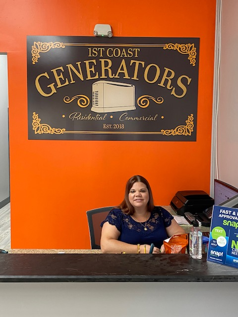 Fresh Coast Generators office lobby signs in Jacksonville, FL